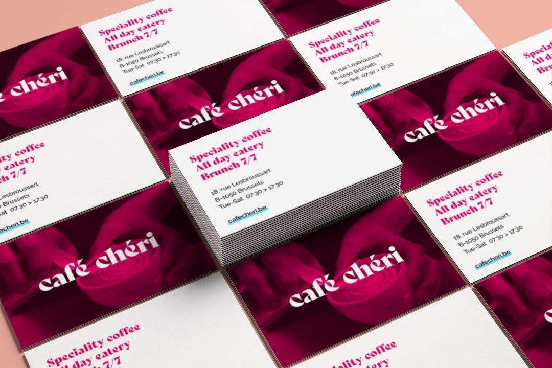 ArnoStudio Portfolio : Café chéri - Coffee Shop Branding