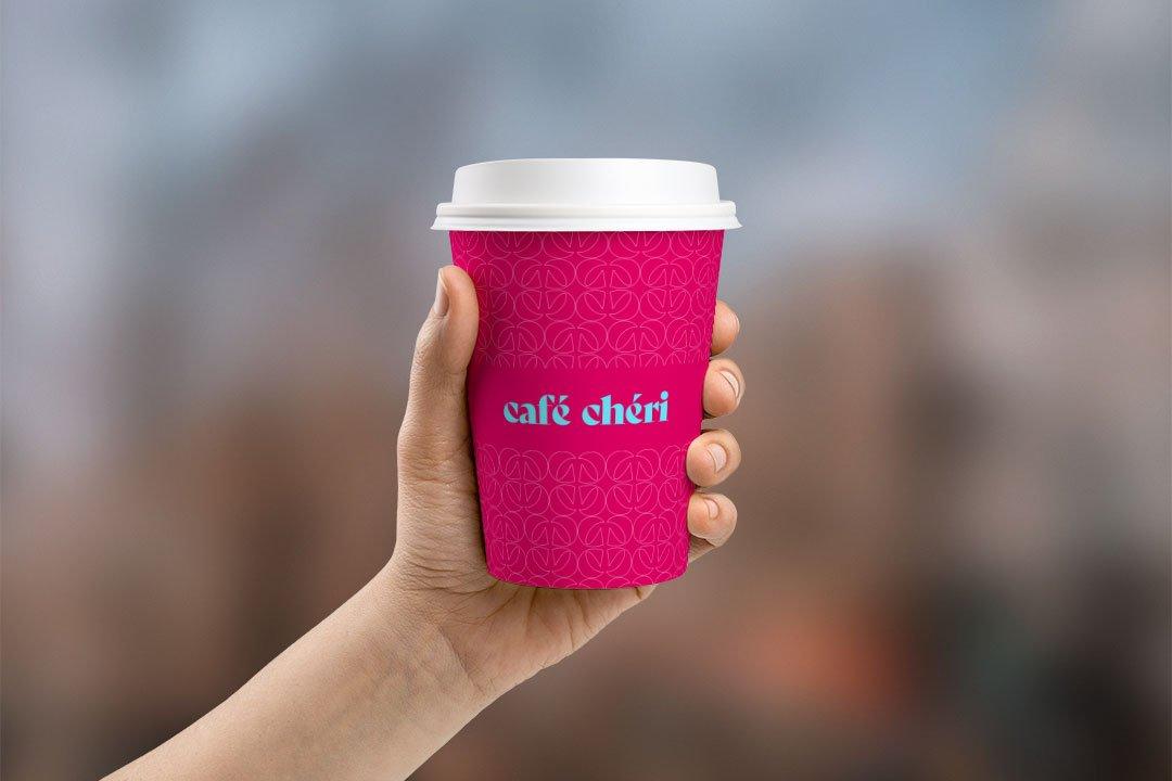 ArnoStudio Portfolio : Café Chéri - takeaway cup mockup