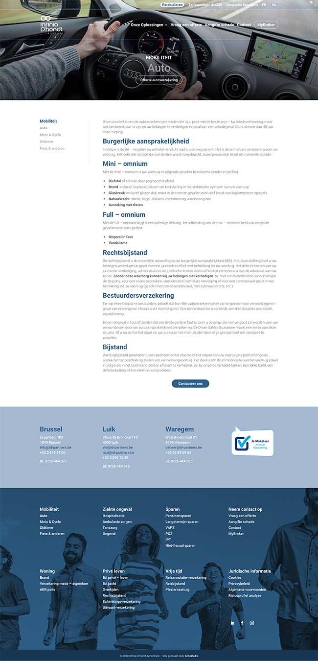 ArnoStudio Portfolio - Infinia D'hond't & Partners Website screenshot