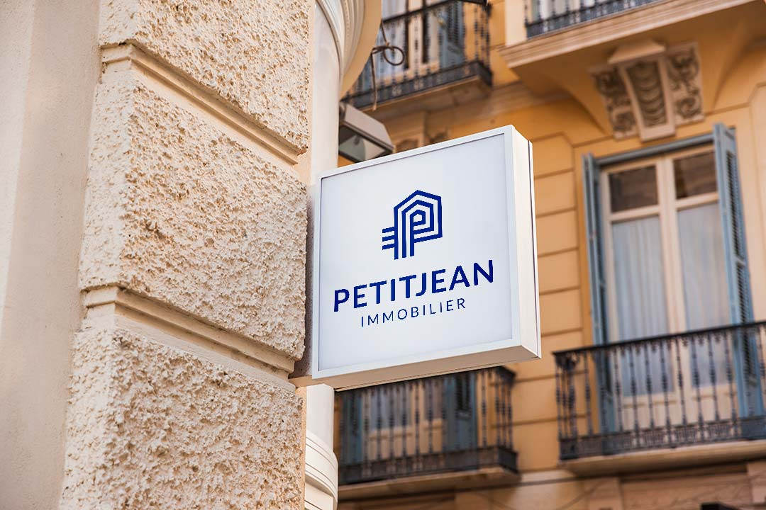 ArnoStudio Portfolio - Petitjean Real estate agency branding